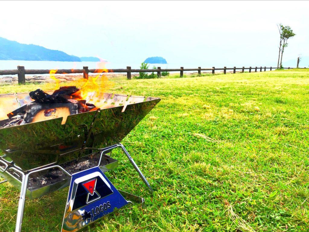 海とたき火